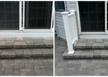 before and after railing installation